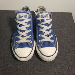 Royal Blue Low Top Converse